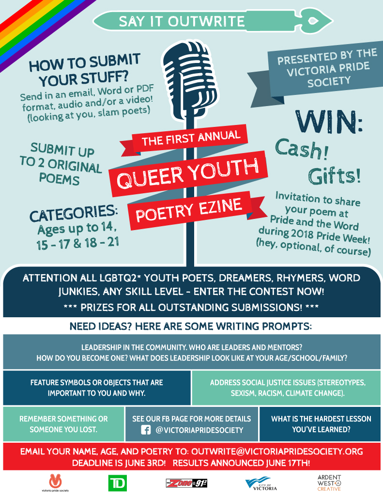 VPS Queer Youth Poetry Contest Poster
