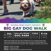 Victoria Pride Society - Big Gay Dog Walk Poster 2018