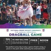 Victoria Pride Society - Dragball Poster 2018