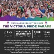 Victoria Pride Society - Pride Parade Poster 2018