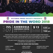 Victoria Pride Society - Pride in the Word Poster 2018