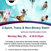 2-Spirit, Trans and Non-Binary Swim - May Long Weekend