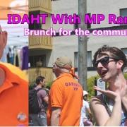 IDAHT Brunch with MP Randall Garrison