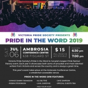 Victoria Pride Society - Pride in the Word 2019